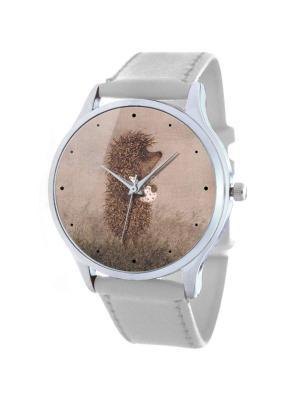 Дизайнерские часы Ежик в туманe Tina Bolotina. Цвет: серо-коричневый, светло-серый