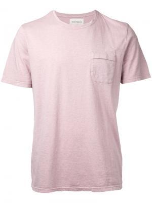 Футболка с карманом клапаном Oliver Spencer. Цвет: розовый и фиолетовый