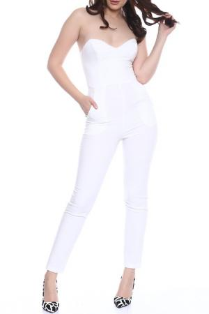 Комбинезон Emma Monti. Цвет: белый