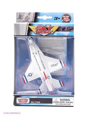 Модель самолета Lockheed Martin F16 Fightning Falcon Motormax. Цвет: голубой