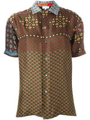 Рубашка с узором Pierre-Louis Mascia. Цвет: многоцветный