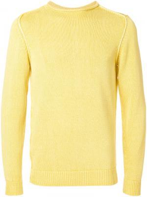 Джемпер с открытой строчкой Dondup. Цвет: жёлтый и оранжевый