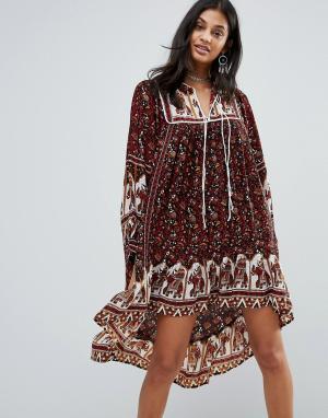 Raga Платье Arabian Nights Boho. Цвет: коричневый