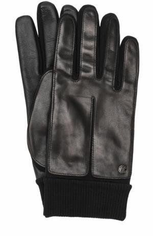 Кожаные перчатки с манжетами Roeckl. Цвет: черный