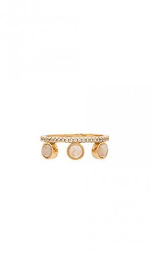 Круглое кольцо с отделкой Melanie Auld. Цвет: металлический золотой
