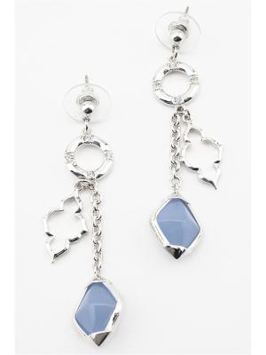 Серьги Inesse M. Цвет: серебристый, голубой