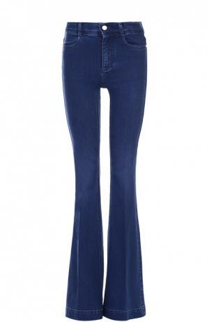 Расклешенные джинсы с отворотами Stella McCartney. Цвет: синий