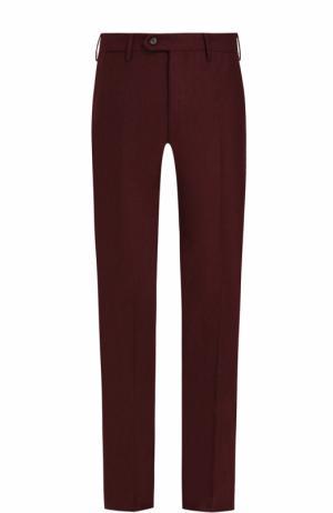 Шерстяные брюки прямого кроя Germano. Цвет: бордовый