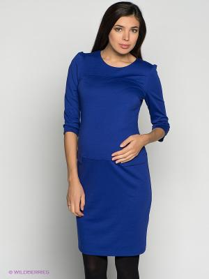 Платье для беременных ФЭСТ. Цвет: синий