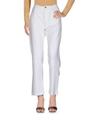Повседневные брюки SOEUR. Цвет: белый