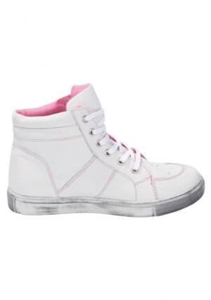 Высокие кеды Andrea Conti. Цвет: белый/розовый