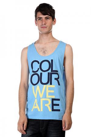 Майка  We Are Tank Pale Blue Melange CLWR. Цвет: голубой