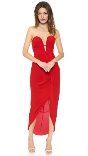 Длинное шелковое платье Curve Zimmermann. Цвет: оранжевый