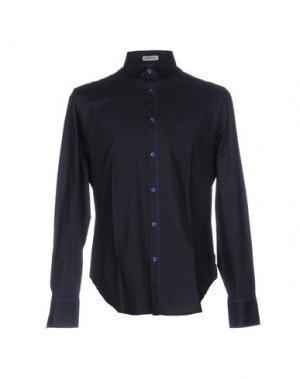 Pубашка BIKKEMBERGS. Цвет: темно-синий
