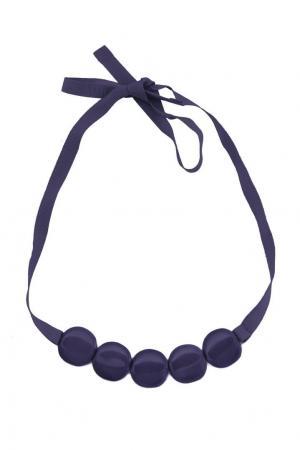 Однотонное ожерелье Miller. Цвет: синий
