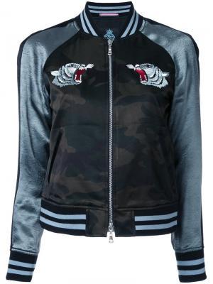 Куртка бомбер с вышивкой Guild Prime. Цвет: чёрный