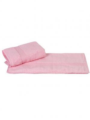 Махровое полотенце 50x90 FIRUZE розовое,100% хлопок HOBBY HOME COLLECTION. Цвет: розовый