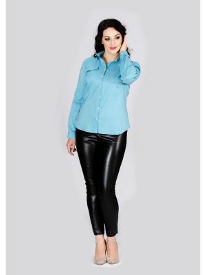 Рубашка Лагуна. Цвет: бирюзовый