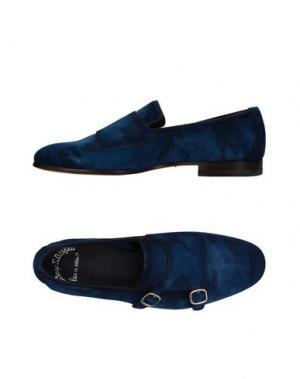 Мокасины SANTONI. Цвет: синий
