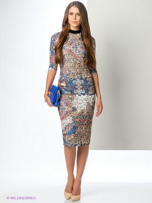 Платье ELENA FEDEL. Цвет: синий, молочный, коралловый, черный