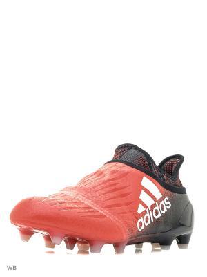 Футбольные бутсы (мяг.покр.) муж. X 16+ PURECHAOS FG RED/FTWWHT/CBLACK Adidas. Цвет: черный, красный