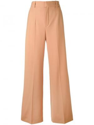 Расклешенные брюки Chloé. Цвет: розовый и фиолетовый