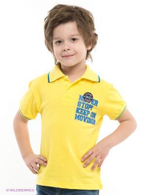 Футболка-поло PELICAN. Цвет: желтый
