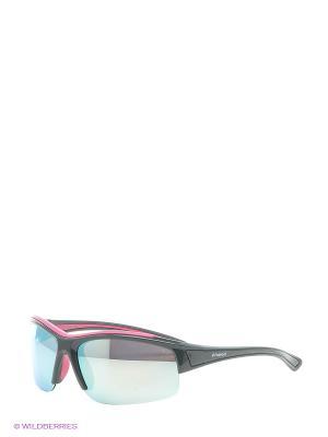 Солнцезащитные очки Polaroid. Цвет: темно-серый, серебристый