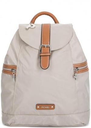 Текстильный рюкзак с контрастной строчкой Picard. Цвет: серый