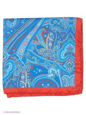 Платок-паше Troy collezione. Цвет: голубой, красный, синий