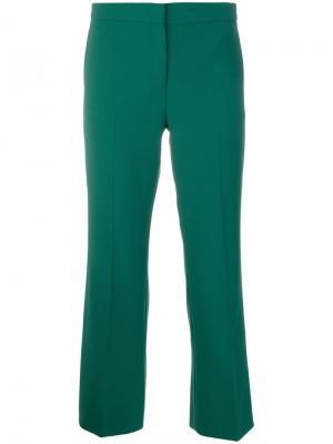 Укороченные брюки клеш Nº21. Цвет: зелёный