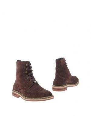 Полусапоги и высокие ботинки BRIMARTS. Цвет: баклажанный
