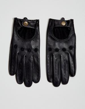 Dents Кожаные перчатки для вождения Delta. Цвет: черный