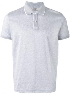 Классическая рубашка-поло La Fileria For Daniello D'aniello. Цвет: серый
