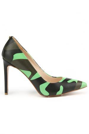 Туфли DERI&MOD. Цвет: зеленый