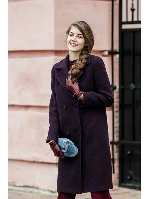 Пальто Exalta. Цвет: темно-фиолетовый