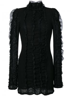Платье с отделкой оборками Philosophy Di Lorenzo Serafini. Цвет: чёрный