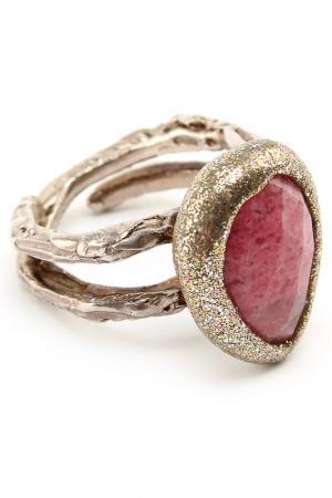 Кольцо Estrosia. Цвет: серебристый, розовый
