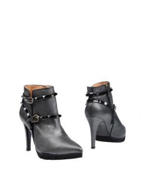 Полусапоги и высокие ботинки MARIAN. Цвет: стальной серый