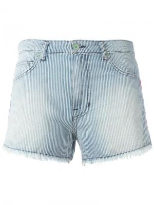 Джинсовые шорты с вышивкой Sandrine Rose. Цвет: синий
