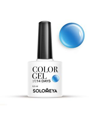 Гель-лак Color Gel Тон Blue Candy SCG068/Голубая конфета SOLOMEYA. Цвет: голубой, синий
