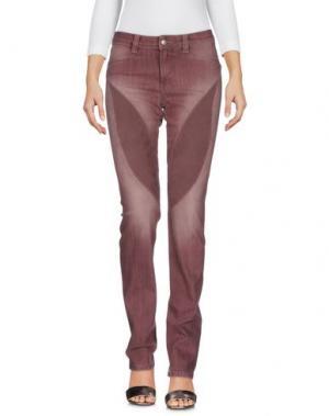 Джинсовые брюки 9.2 BY CARLO CHIONNA. Цвет: баклажанный