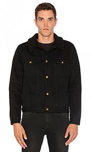 Джинсовая куртка с подкладкой из искусственной шепры ROLLAS ROLLA'S. Цвет: черный