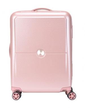 Чемодан/сумка на колесиках DELSEY. Цвет: пастельно-розовый