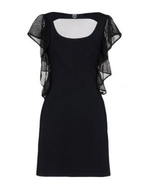 Короткое платье AZZARO. Цвет: черный