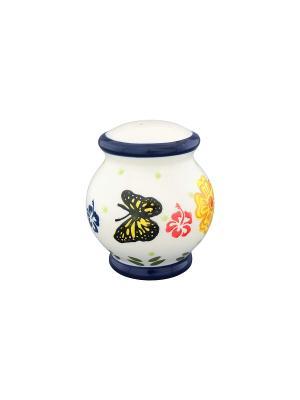 Солонка Бабочки Elan Gallery. Цвет: белый, синий, желтый