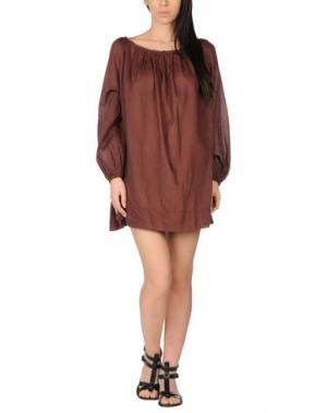 Пляжное платье SIYU. Цвет: баклажанный