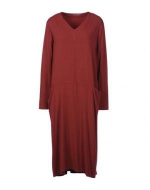 Платье до колена EUROPEAN CULTURE. Цвет: кирпично-красный