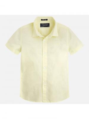 Рубашка Mayoral. Цвет: оранжевый