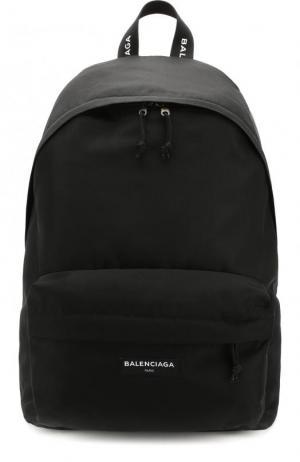 Текстильный рюкзак Explorer с логотипом бренда Balenciaga. Цвет: черный